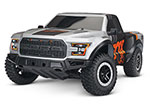 FOX Ford F-150 Raptor: 1/10 Scale 2WD Ford F-150 Raptor. Ready-To-Race® with TQ 2.4GHz radio system and XL-5 ESC (fwd/rev).  Includes: 7-Cell NiMH 3000mAh Traxxas battery.