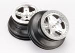 5874 Wheels, SCT satin chrome, beadlock style, dual profile (2.2