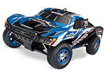 BLUE Slayer Pro 4X4: 1/10-Scale Nitro-Powered 4WD Short Course Racing Truck with TQi Traxxas Link™ Enabled 2.4GHz Radio System & Traxxas Stability Management (TSM)®