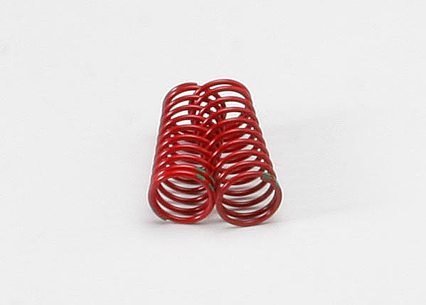 Traxxas 5940 Spring ,  shock (red) (GTR) (1.8 rate double green stripe) (1 pair)