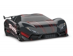 Black/Red XO-1: 1/7 Scale AWD Supercar with TQi 2.4GHz Radio System & Traxxas Link Wireless Module