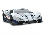 White/Blue XO-1: 1/7 Scale AWD Supercar with TQi 2.4GHz Radio System & Traxxas Link Wireless Module
