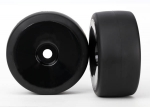 6473 Tires & wheels, assembled, glued (black, dished wheels, slick tires (S1 compound), foam inserts) (rear) (2)