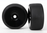 6475 Tires & wheels, assembled, glued (black, dished wheels, slick tires (S1 compound), foam inserts) (front) (2)