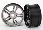 6476 Wheels, split-spoke (black chrome) (rear) (2)