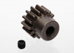 6488X Gear, 14-T pinion (1.0 metric pitch) (fits 5mm shaft)/ set screw (compatible with steel spur gears)