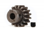 6489X Gear, 16-T pinion (1.0 metric pitch) (fits 5mm shaft)/ set screw (compatible with steel spur gears)