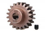 6494X Gear, 20-T pinion (1.0 metric pitch) (fits 5mm shaft)/ set screw (compatible with steel spur gears)