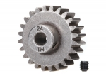 6496X Gear, 24-T pinion (1.0 metric pitch) (fits 5mm shaft)/ set screw (compatible with steel spur gears)