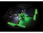 Green LaTrax® Alias®: Quad Rotor Helicopter. Ready-To-Fly with 2.4GHz radio system, 650mAh LiPo battery, and single USB-powered charger.
