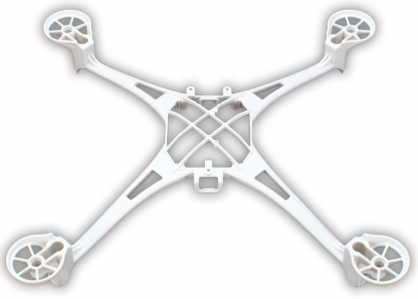 Traxxas 6623A Main frame (white) /  1.6x5mm BCS (self-tapping) (4)