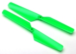 6631 Rotor blade set, green (2)/ 1.6x5mm BCS (2)