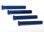 6633X Main shaft, 7075-T6 aluminum, blue-anodized (4)/ 1.6x5mm BCS (4)