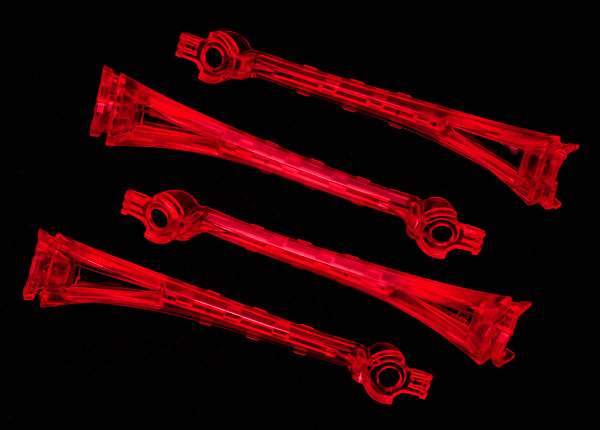 Traxxas 6651 LED lens ,  red (4)