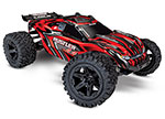 RED Rustler® 4X4: 1/10-scale 4WD StadiumTruck.  Ready-To-Race® with TQ 2.4GHz radio system and XL-5 ESC (fwd/rev).  Includes: 7-Cell NiMH 3000mAh Traxxas® battery with DC charger