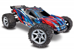 RED, BLUE Rustler® 4X4 VXL:  1/10 Scale Stadium Truck. Ready-to-Race® with TQi Traxxas Link™ Enabled 2.4GHz Radio System, Velineon® VXL-3s brushless ESC (fwd/rev), and Traxxas Stability Management (TSM)®