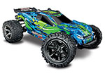 GREEN Rustler® 4X4 VXL:  1/10 Scale Stadium Truck. Ready-to-Race® with TQi Traxxas Link™ Enabled 2.4GHz Radio System, Velineon® VXL-3s brushless ESC (fwd/rev), and Traxxas Stability Management (TSM)®