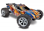 ORNG, BLUE Rustler® 4X4 VXL:  1/10 Scale Stadium Truck. Ready-to-Race® with TQi Traxxas Link™ Enabled 2.4GHz Radio System, Velineon® VXL-3s brushless ESC (fwd/rev), and Traxxas Stability Management (TSM)®