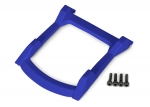 6728X Skid plate, roof (body) (blue)/ 3x12mm CS (4)