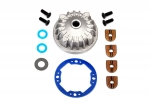 6781 Housing, center differential (aluminum)/ x-ring gaskets (2)/ ring gear gasket/ bushings (2)/ 5x10x0.5mm PTFE-coated washers (2)/ 2.5x8 CCS (4)