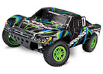 GREEN/BLUE Slash 4X4: 1/10 Scale 4WD Electric Short Course Truck with TQ 2.4GHz Radio System