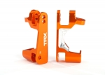6832A Caster blocks (c-hubs), 6061-T6 aluminum (orange-anodized), left & right
