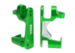 6832G Caster blocks (c-hubs), 6061-T6 aluminum (green-anodized), left & right