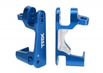 6832X Caster blocks (c-hubs), 6061-T6 aluminum (blue-anodized), left & right