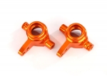 6837A Steering blocks, 6061-T6 aluminum (orange-anodized), left & right