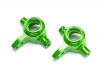 6837G Steering blocks, 6061-T6 aluminum (green-anodized), left & right