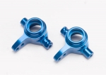 6837X Steering blocks, 6061-T6 aluminum (blue-anodized), left & right