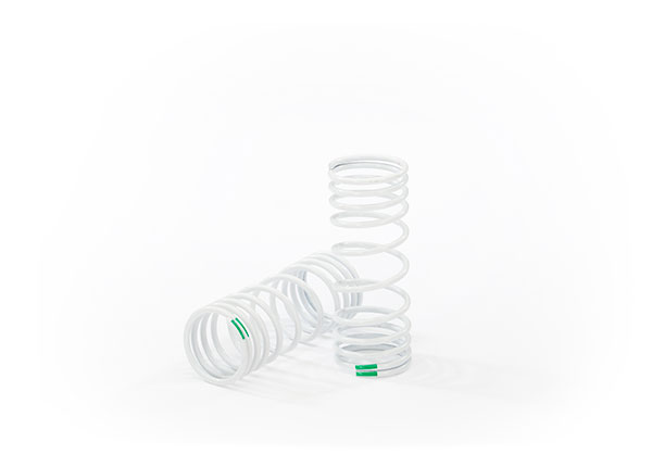 Traxxas 6862 Springs ,  front (progressive ,  -10% rate ,  green) (2)