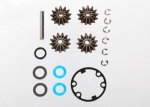 6982 Gear set, differential (output gears (2)/ spider gears (2)/ spider gear shaft)/ output gear seals (x-ring) (2)/ diff gasket (1)/ hardware