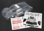7012R Body, 1/16th Slash (clear, requires painting)/ grille, lights decal sheet