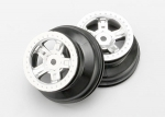 7072 Wheels, SCT satin chrome, beadlock style, dual profile (1.8