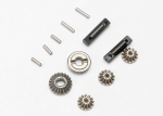 7082 Gear set, differential (output gears (2)/ spider gears (3))/ differential output shafts (2)/ 1.5x6mm pin (3)/ 1.5x8mm pin (2)