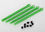 7138G Toe link, front & rear (molded composite) (green) (4)/ hollow balls (8)