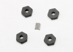 7154 Wheel hubs, hex (4)/ axle pins (1.5x8mm) (4)