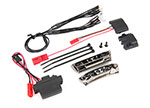 7185A LED light kit, 1/16 E-Revo® (includes power supply, front & rear bumpers, light harness (4 clear, 4 red), wire ties)