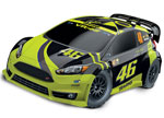 VR46 Ford Fiesta® ST Rally: 1/10-scale Electric Rally Racer with Officially Licensed Painted Body. Ready-To-Race® with TQ 2.4GHz radio system and XL-5 ESC (fwd/rev).