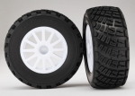 7473 Tires & wheels, assembled, glued (White wheels, BFGoodrich® Rally, gravel pattern, tires, foam inserts) (2) (TSM rated)