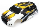 7512 Body, LaTrax® 1/18 Rally, yellow (painted)/ decals