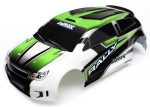 7513 Body, LaTrax® 1/18 Rally, green (painted)/ decals