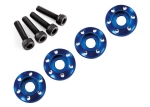 7668 Wheel nut washer, machined aluminum, blue / 3x12mm CS (4)