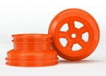 7673A Wheels, SCT orange, beadlock style, dual profile (1.8