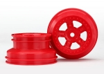 7673R Wheels, SCT red, beadlock style, dual profile (1.8