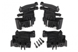 right left Traxxas 77086-4 X-MAXX BATTERY HOLD-DOWN/'S /& Mounts