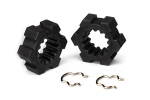 7756 Wheel hubs, hex (2)/ hex clips (2)