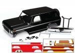 8010X Body, Ford Bronco, complete (black) (includes front and rear bumpers, push bar, rear body mount, grille, side mirrors, door handles, windshield wipers, spare tire mount, red and sunset decals) (requires #8072 inner fenders)