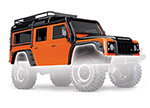 8011A Body, Land Rover® Defender®, adventure orange (complete with ExoCage, inner fenders, fuel canisters, and jack)